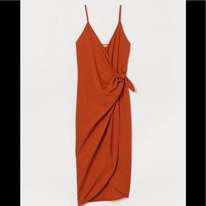 H&M Mock Wrap Dress